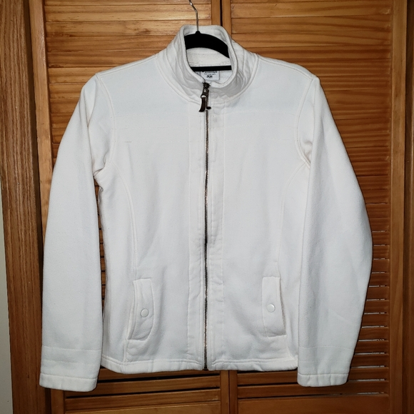 Columbia Jackets & Blazers - Columbia white collared Zip front Small Jacket
